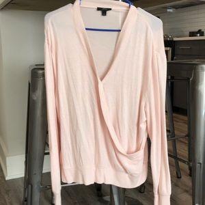 J. Crew Light Pink Wrap Sweater, worn once